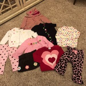 Gymboree girls 12-18 lot of 9 tops bottoms sweater